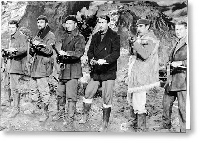 Darren Greeting Cards - The Guns of Navarone  Greeting Card by Silver Screen