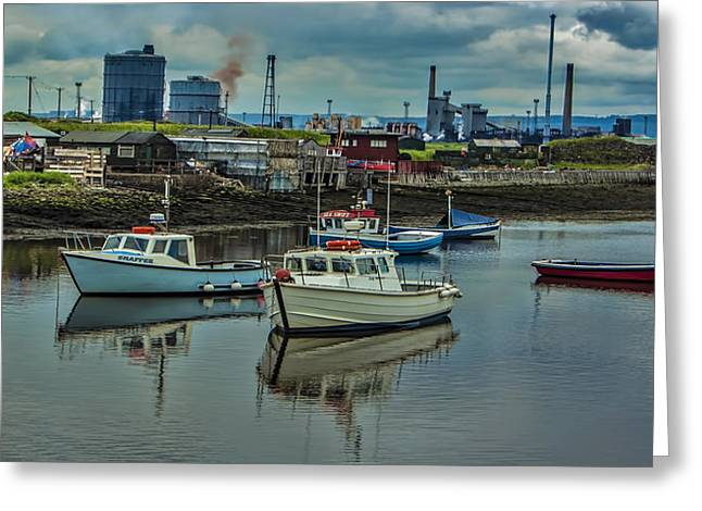 The Harbour Greeting Card by Trevor Kersley