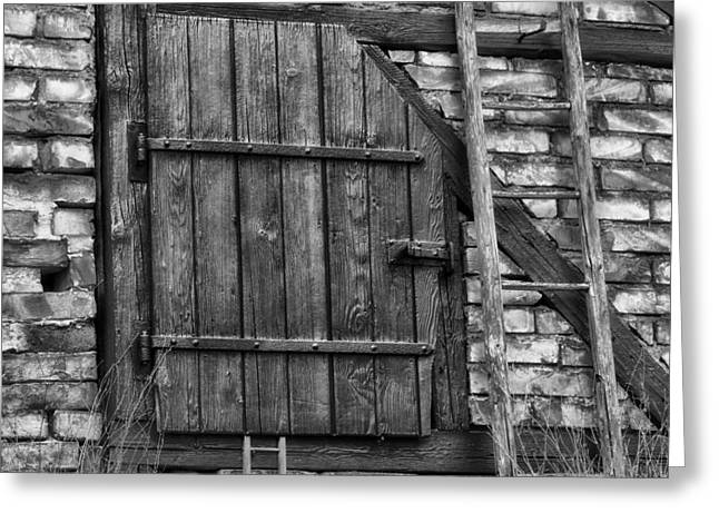 Barn Door Greeting Cards - The Hay Loft Greeting Card by Mountain Dreams