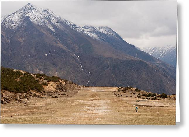 Airstrip Greeting Cards - The Highest Airstrip in the World Greeting Card by Kristin Lau