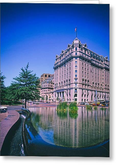 Pershing Greeting Cards - The Historic Willard Hotel - Washington DC 1980s Greeting Card by Mountain Dreams