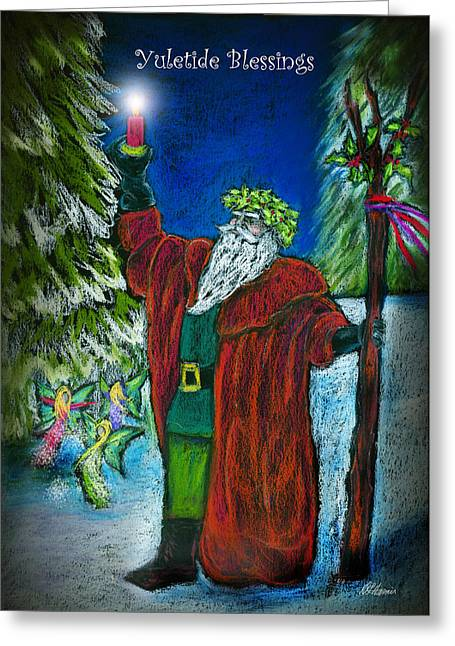 King Pastels Greeting Cards - The Holly King Greeting Card by Diana Haronis
