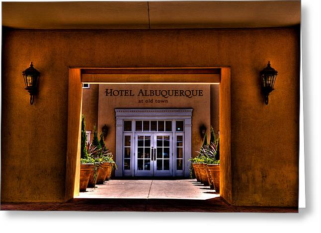 Convention Greeting Cards - The Hotel Albuquerque Greeting Card by David Patterson