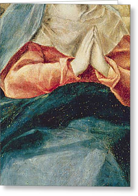 Blessed Virgin Greeting Cards - The Immaculate Conception  Greeting Card by El Greco Domenico Theotocopuli