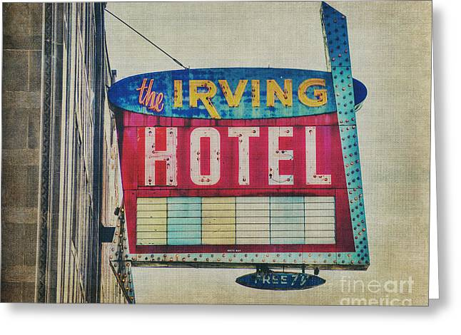 Portage Greeting Cards - The Irving Hotel in Chicago Greeting Card by Emily Kay