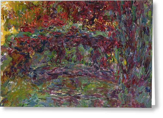 The Japanese Bridge At Giverny Greeting Card by Claude Monet