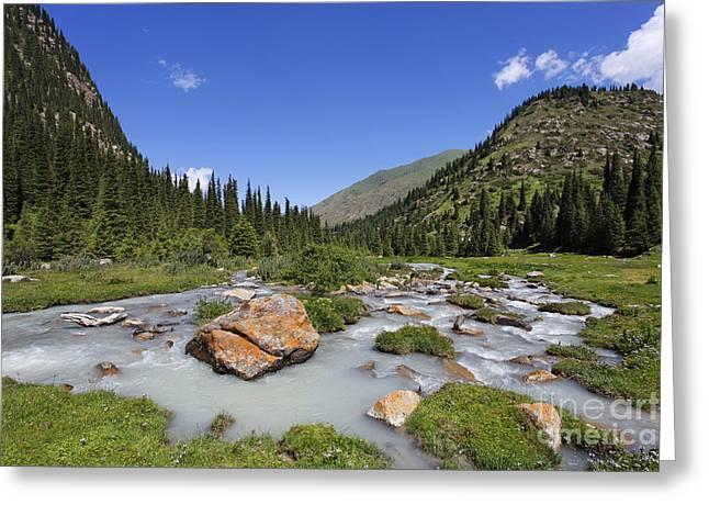 The Jeti Oghuz River In Kyrgyzstan Greeting Card by Robert Preston
