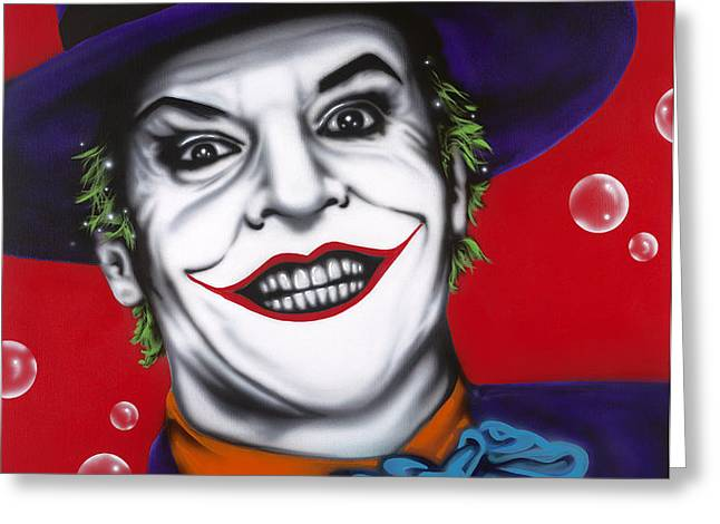 The Joker Greeting Card by Alicia Hayes