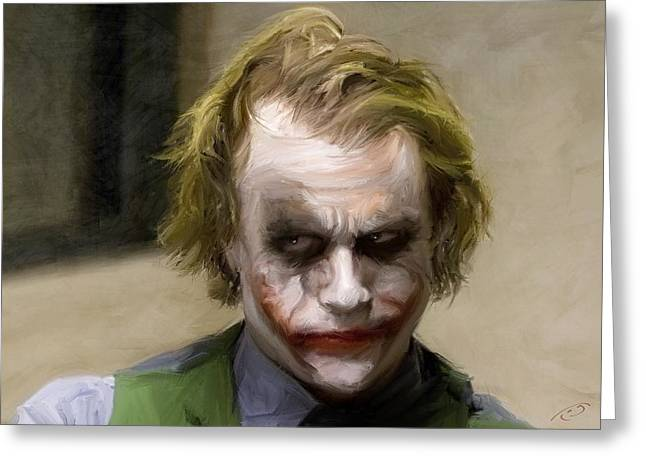 Ledger; Book Digital Art Greeting Cards - The Joker Greeting Card by Paul Tagliamonte
