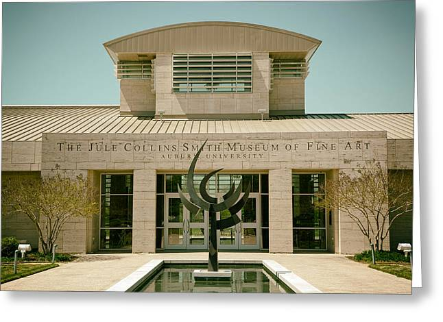 Art Of Building Greeting Cards - The Jule Collins Smith Museum of Fine Art Greeting Card by Mountain Dreams