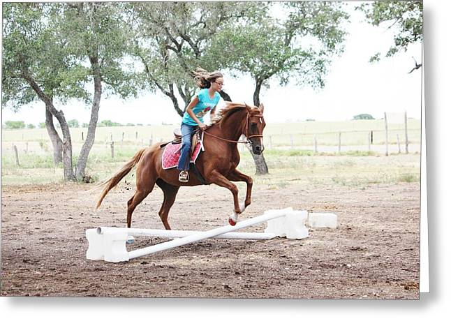 Showjumping Greeting Cards - The Jump Greeting Card by Jeff Tuten
