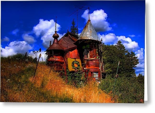 Junk Greeting Cards - The Junk Castle Greeting Card by David Patterson