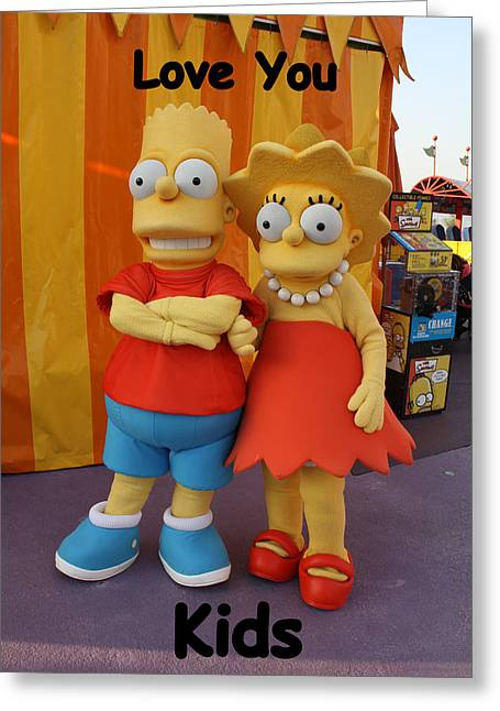 Bart Simpson Greeting Cards - The Kids Greeting Card by David Nicholls