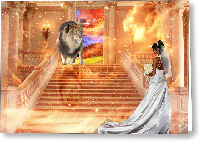 Judah Greeting Cards - The King Is Here Greeting Card by Dolores Develde