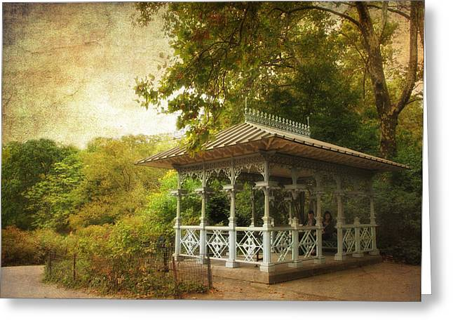 The Ladies Pavilion Greeting Card by Jessica Jenney