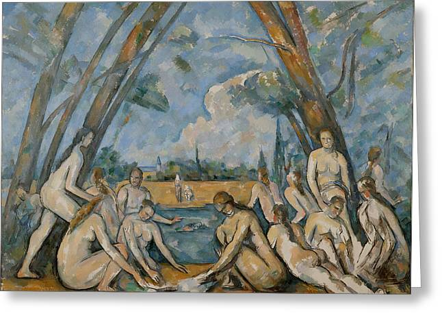 Gestures Greeting Cards - The Large Bathers Greeting Card by Paul Cezanne