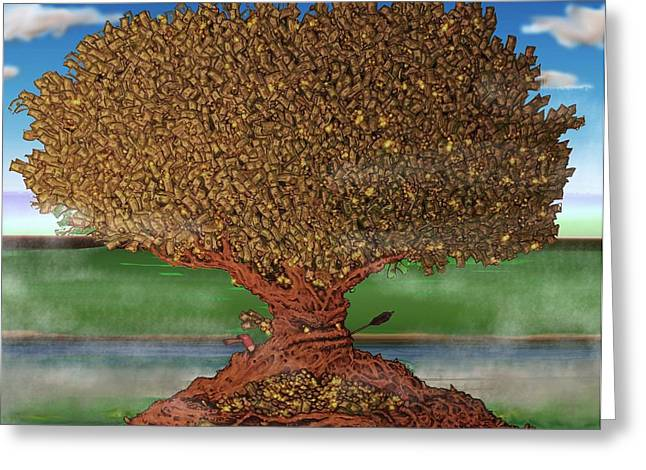 Reserve Drawings Greeting Cards - The Lending Tree Greeting Card by Paul Calabrese