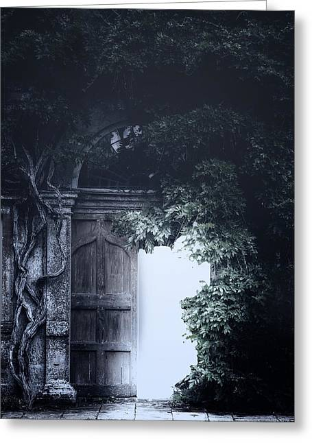 Castle Gates Greeting Cards - The Light Greeting Card by Joana Kruse