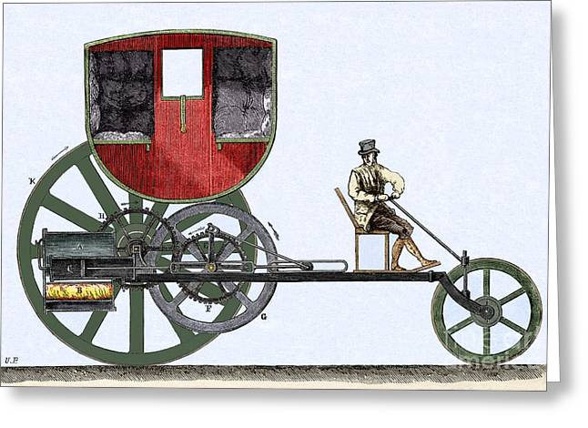 The London Steam Carriage 1803 Greeting Card by Sheila Terry