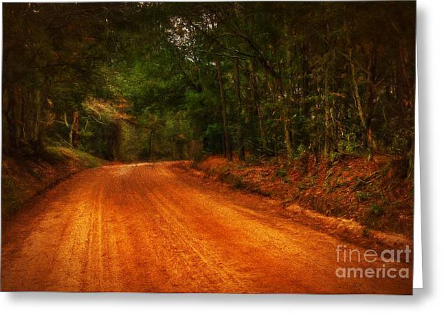 Altered Clay Greeting Cards - The Long and Winding Road Greeting Card by Dave Bosse