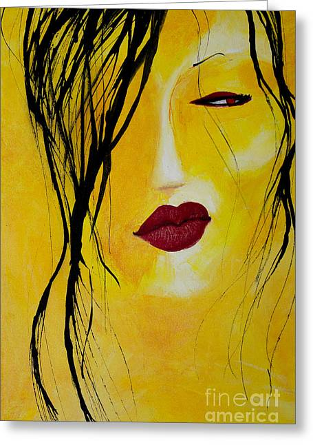 Contempt Greeting Cards - The Look Greeting Card by Robin Rose