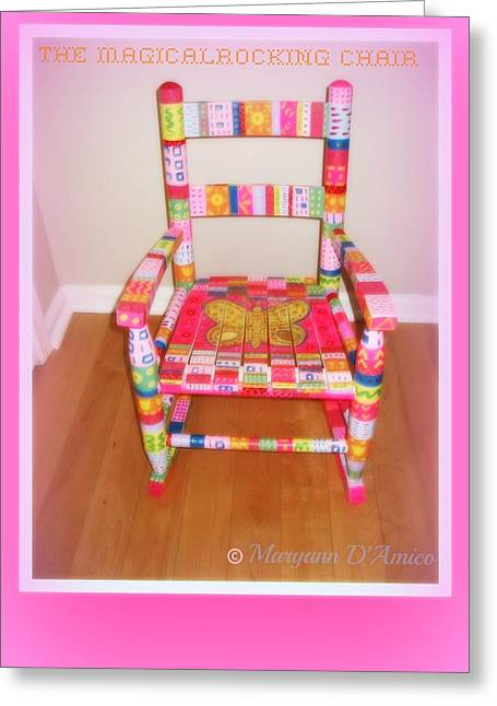 Chairs Sculptures Greeting Cards - The Magical Rocking Chair Number 2 Greeting Card by Maryann  DAmico