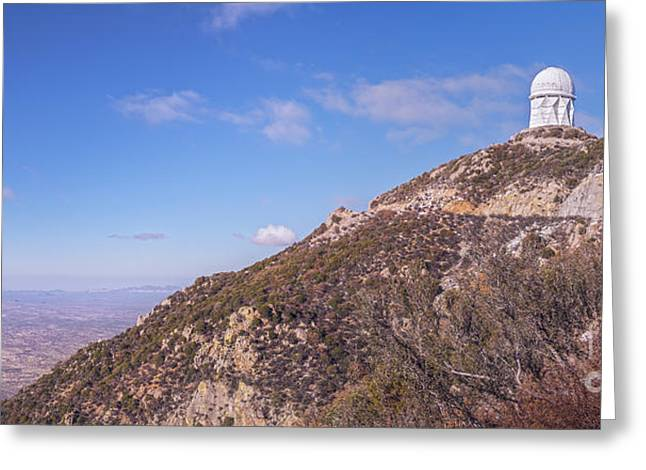 Quinlan Greeting Cards - The Mayall Observatory Atop Kitt Peak Greeting Card by John Davis