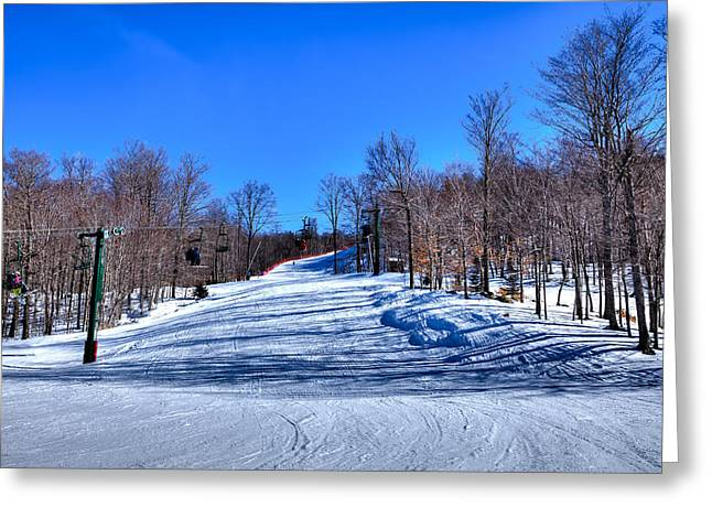 Chairlift Greeting Cards - The McCauley Mountain Ski Area Greeting Card by David Patterson