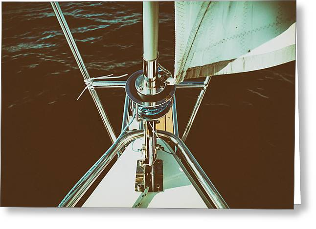 Sailboat Photos Greeting Cards - The Mechanics of Sailing Greeting Card by Mountain Dreams