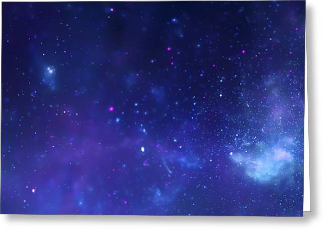 Crab Nebula Greeting Cards - the Milky Way Greeting Card by Celestial Images