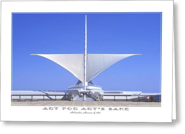 Milwaukee Art Museum Greeting Cards - The Milwaukee Art Museum Greeting Card by Mike McGlothlen