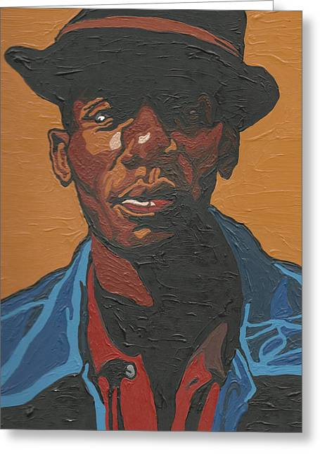 Mos Def Greeting Cards - The Most Beautiful Boogie Man Greeting Card by Rachel Natalie Rawlins