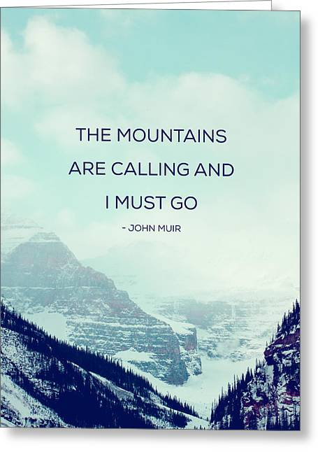 Fine Art Skiing Prints Greeting Cards - The Mountains Are Calling Greeting Card by Kim Fearheiley