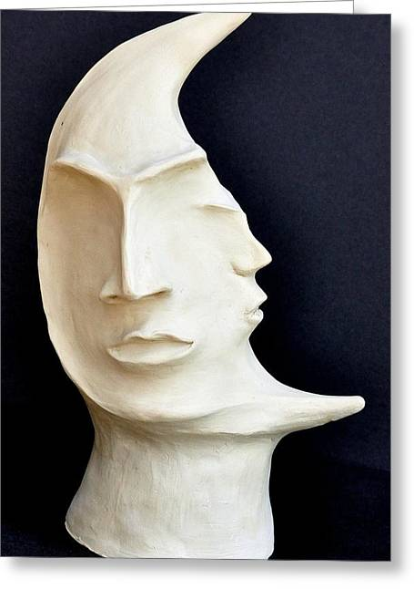 Style Sculptures Greeting Cards - The Mysterious Moon Greeting Card by Marianna Mills
