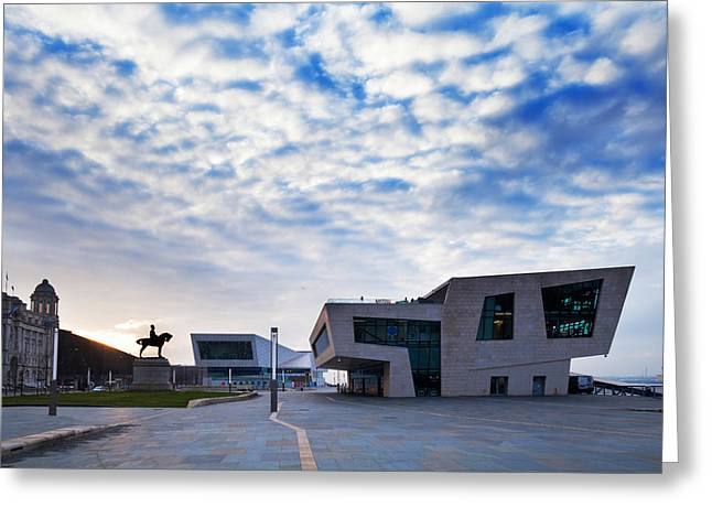 Merseyside Greeting Cards - The New Pier Head Ferry Terminal Greeting Card by Panoramic Images