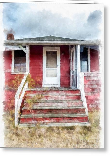 Hamptons Greeting Cards - The Old Beach Cottage Greeting Card by Edward Fielding