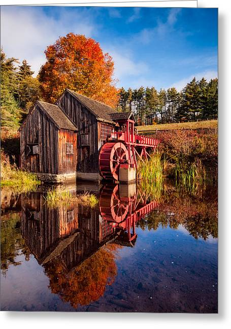 Grist Mill Greeting Cards - The Old Grist Mill Greeting Card by Michael Blanchette