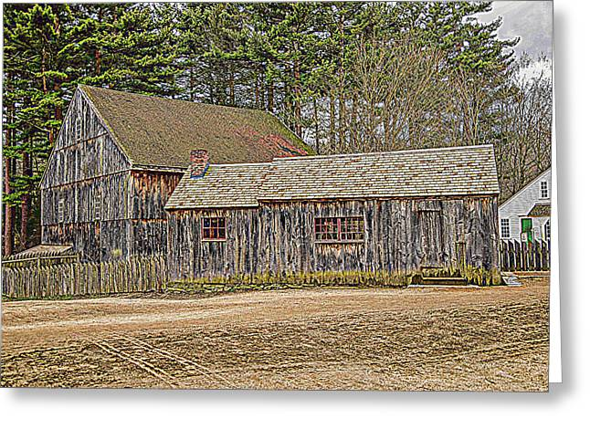 Historic Site Mixed Media Greeting Cards - The Old Homestead Greeting Card by Douglas Miller