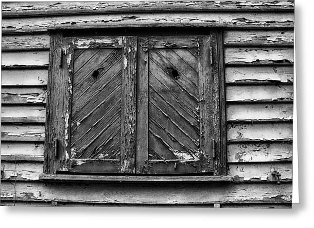 Wooden Shutter Greeting Cards - The Old House Greeting Card by Mountain Dreams