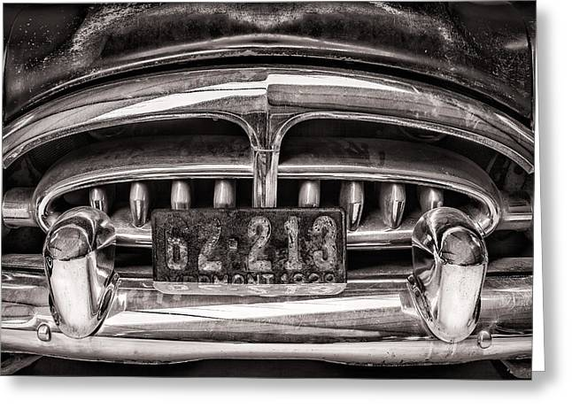 Sixties Style Automobile Greeting Cards - The Old Packard Greeting Card by Martin Bergsma