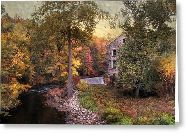 Mills Digital Greeting Cards - The Old Stone Mill Greeting Card by Jessica Jenney
