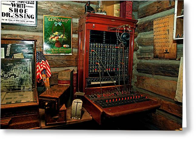 The Old Switchboard Greeting Card by Mike Flynn