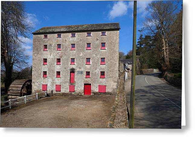 Processing Greeting Cards - The Old Water Wheel And Flour-mill Greeting Card by Panoramic Images