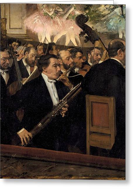 The Opera Orchestra Greeting Cards - The Opera Orchestra Greeting Card by Edgar Degas