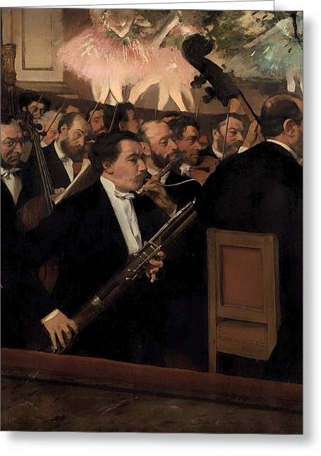 Orchestra Pit Greeting Cards - The Orchestra at the Opera Greeting Card by Edgar Degas
