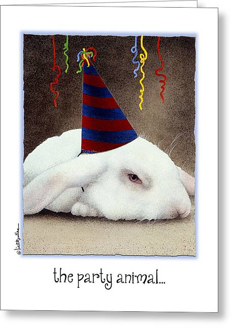 Hare Greeting Cards - The Party Animal... Greeting Card by Will Bullas