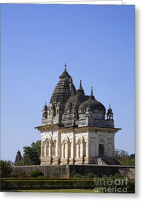 The Parvati Temple At Khajuraho In India Greeting Card by Robert Preston