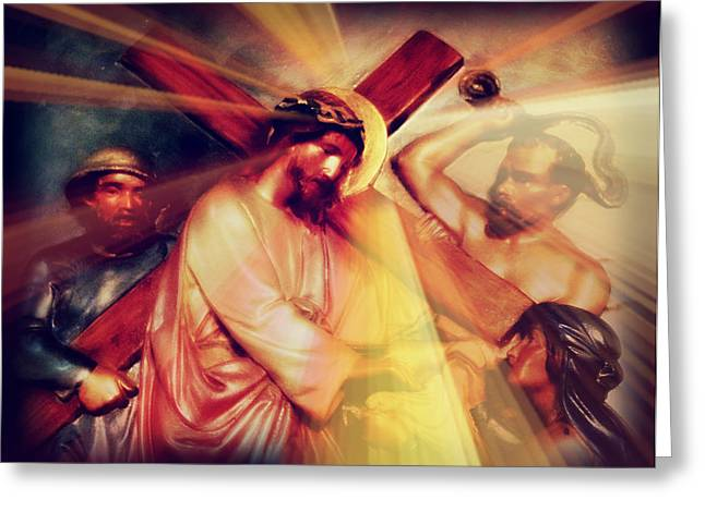 Holy Week Digital Art Greeting Cards - The Passion of Christ IX Greeting Card by Aurelio Zucco