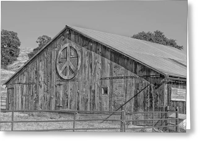 Barn Lots Greeting Cards - The Peace Barn Greeting Card by Mountain Dreams