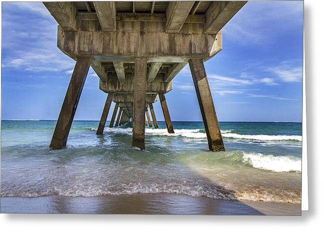 Surfing Art Greeting Cards - The Pier  Greeting Card by Frank Molina